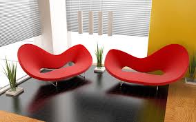 ideas for modernizing your home furniture blue modern sofa red