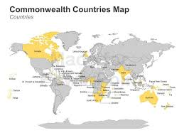 commonwealth of nations map editable powerpoint template