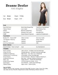 Beginner Acting Resume Template How To A Theatre Resume 11027 Plgsa Org