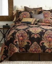 Neiman Marcus Bedding Gorgeous Horchow Neiman Marcus Black Tapestry Floral Queen