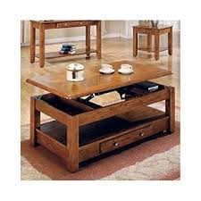 Oak Sofa Table With Drawers Amazon Com Lift Top Coffee Table Oak With Storage Drawers And