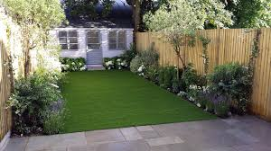 easy garden fence ideas modern low maintenance garden design easy lawn grass painted fence