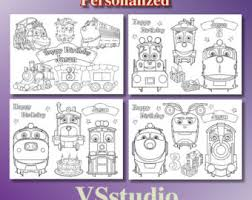 chuggington 8 party activity coloring pages personalized