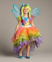 Rainbow Halloween Costume Pony Rainbow Dash Girls Costume Diy