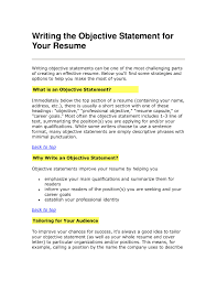 Resume Objective Statement - awesome collection of resume mission statement exle spectacular