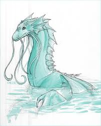 drawn water dragon pencil and in color drawn water dragon