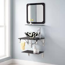 bathroom best bathroom mirror with glass shelf decor modern on