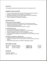 Resume Sample Objective free resume template for sales representative rep cv