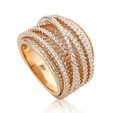 beautiful jewelry rings images Double accent 14k rose gold plated sterling silver intertwined jpg