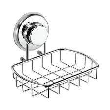 Interdesign Bathroom Accessories by Hasko Accessories Super Powerful Vacuum Suction Soap Dish