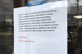 spring garden family restaurant family behind stromboli u0027s plans to close restaurant bethesda