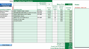 Restaurant Inventory Spreadsheet by Ezchefsoftware Inventory Menu Costing And Analysis For