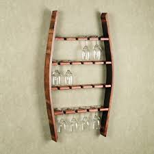wine glass rack shelf under stairs storage wooden idolza