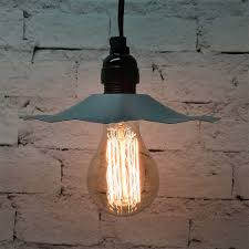 Galvanized Pendant Light Pendant Light With Galvanized Shade A75 Vintage Bulb