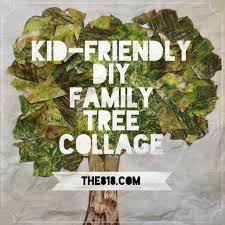kid friendly diy family tree collage great activity to do with