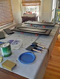 How To Paint Raised Panel Kitchen Cabinet Doors At Home With The - Kitchen cabinet door paint