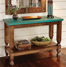 Turquoise Console Table Turquoise Silver Trails Console Table