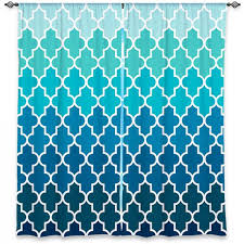 Shower Curtains Unique Window Curtains Unique Organic Saturation Aqua Ombre Quatrefoil