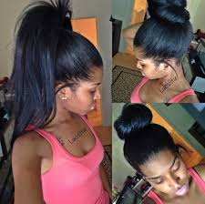 owigs hair extensions lakia achieved this high ponytail and high bun with owigs
