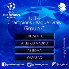 uefa champions league draw chelsea fc global
