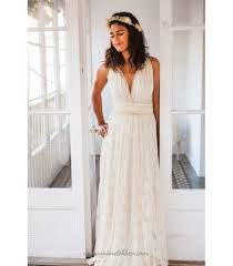 ivory lace wedding dress plunging ivory lace wedding dress gala vintage