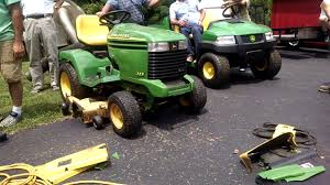 John Deere 48c Mower Deck Belt by John Deere 325 Garden Tractor Sold At A Auction Youtube