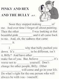 seneca ccsd 170 pinky and rex and the bully worksheets