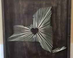 kentucky string art nail and string art monogrammed string