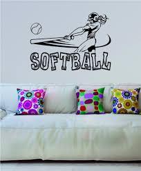 online get cheap wall stickers teen aliexpress alibaba group softball swinging sports girls teen design vinyl wall sticker home interior art murals housewares