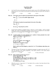 quantitative aptitude questions set circle geometry