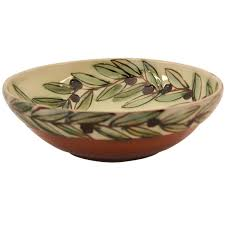 decorative bowls big olive leafs