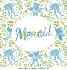 what is floral pattern in french thank you card template floral pattern stock illustration 179676359