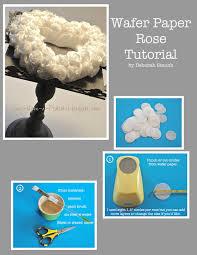 Once Upon A Pedestal Once Upon A Pedestal Wafer Paper Roses Tutorial