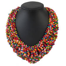 handmade long necklace images 6 colors 65cm handmade statement multilayer wood beads necklace jpg