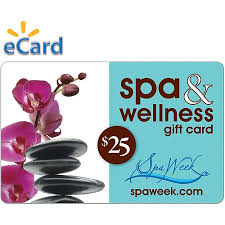 gift card email spa and wellness gift card by spa week 25 email delivery