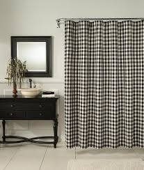 Black Check Curtains M Style Classic Check Shower Curtain Midnight Home