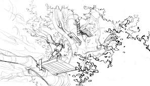coloring picture of a tree house house pictures