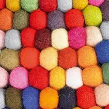 Wool Ball Rug Buy Hay Pinocchio Round Rug Multicolor Amara