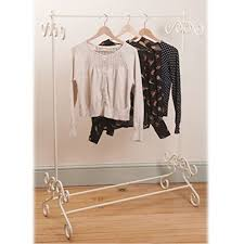 bedroom clothes cream vintage metal clothes rail clothing stand chic ornate