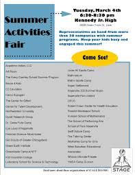2014 summer programs fair u2013 stage 203