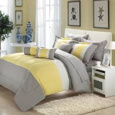 Comforter Bed In A Bag Sets Serenity Yellow U0026 Grey 10 Piece Comforter Bed In A Bag Set