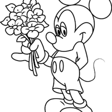 mickey kissing minnie u0027s hand coloring page cartoon pages of mickey
