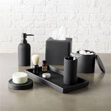on the shelf accessories rubber coated black bath accessories cb2
