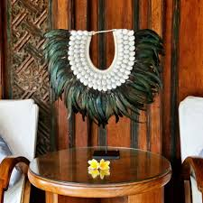 Home Interiors Ebay Hand Made Sea Shell And Feather Tribal Necklace Home Interior