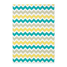 Yellow Chevron Area Rug Teal Yellow Beige Chevron Pattern 5 X7 Area Rug By Listing Store