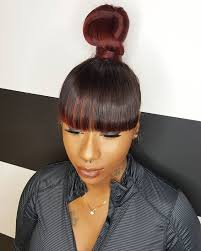 natural hair bun styles with bang ninja bun and bang chloehair7studio hair killa