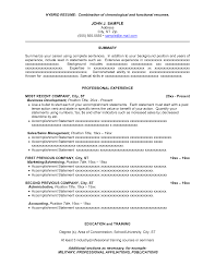 Chronological Resume Template Microsoft Combination Resume Sample Resume For Your Job Application