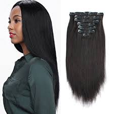 hair clip ins amazingbeauty real remy thick yaki hair clip in hair