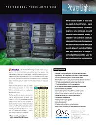 download free pdf for qsc powerlight pl 1 4 amp manual
