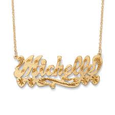 gold name plate necklace personalized multi heart nameplate necklace 18k gold sterling